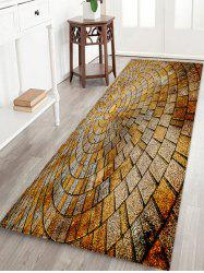 Stone Floor Pattern Water Absorption Area Rug -