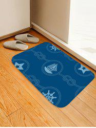 Nautical Theme Pattern Water Absorption Area Rug -
