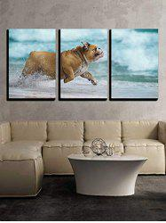 Pet Puppy Water Print Split Canvas Wall Paintings -
