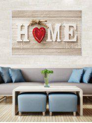 HOME Wood Grain Print Canvas Painting with Frame -