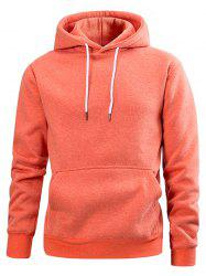 Drawstring Solid Color Casual Hoodie -