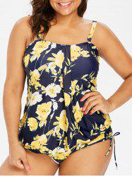 Plus Size Print High Waisted Tankini Set -