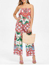 Ethnic Print Off The Shoulder Jumpsuit -