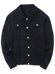 Double Chest Pocket Button Up Jean Jacket -