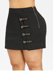 Plus Size Grommet Detail Shorts -