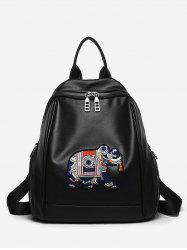 Leisure All Purpose Embroidery Travel Backpack -