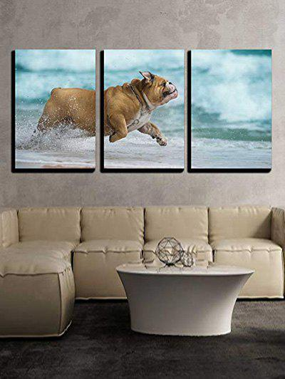 Best Pet Puppy Water Print Split Canvas Wall Paintings