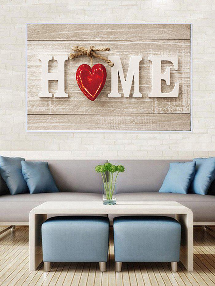 Fancy HOME Wood Grain Print Canvas Painting with Frame