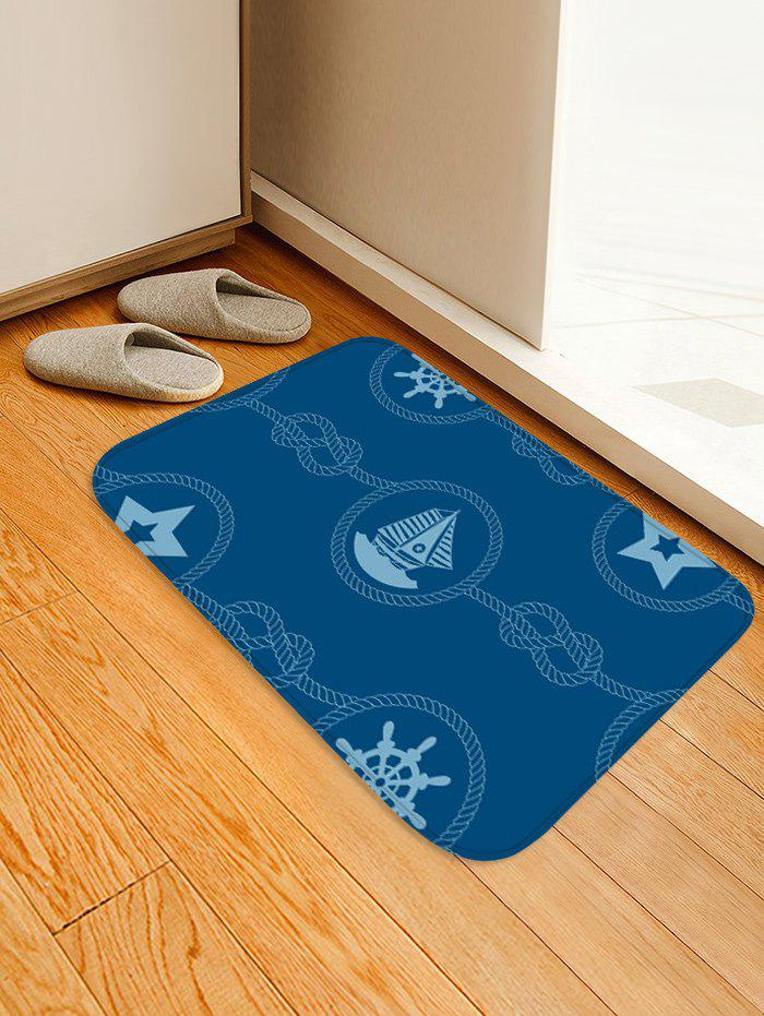 Trendy Nautical Theme Pattern Water Absorption Area Rug