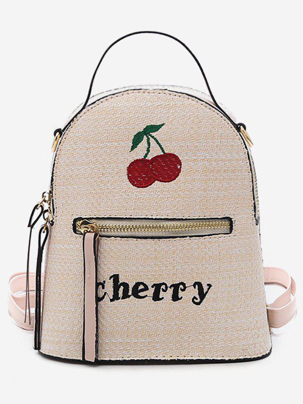 Outfit Leisure Going Out Vacation Straw Backpack