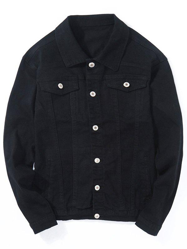 Discount Double Chest Pocket Button Up Jean Jacket