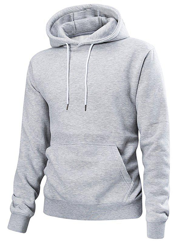 Latest Drawstring Solid Color Casual Hoodie