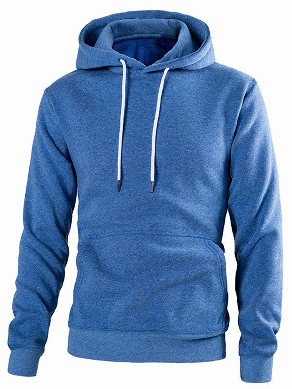 Sale Drawstring Solid Color Casual Hoodie