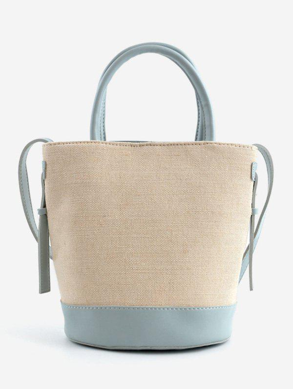 Outfits Convertible Color Block Canvas Tote Bag