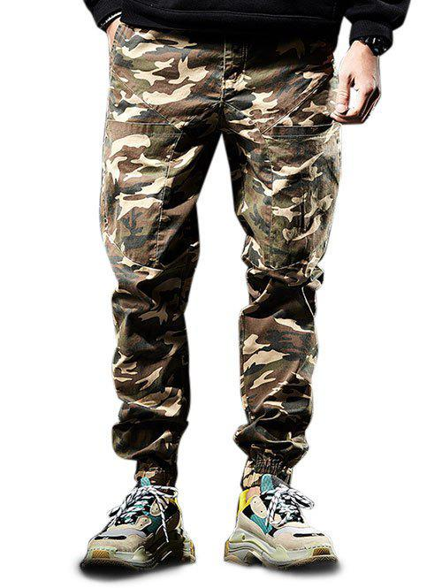 Outfits Zip Fly Multi-pocket Camo Pattern Jogger Pants