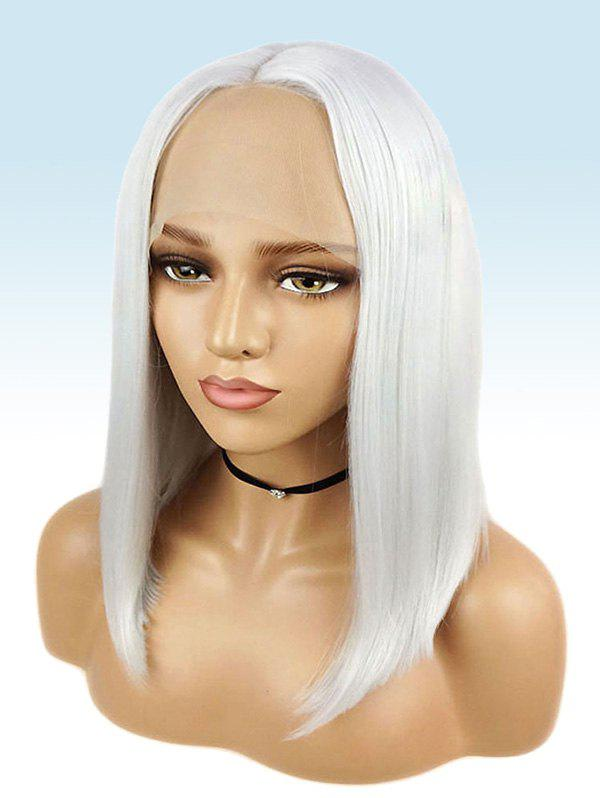 Latest Medium Center Parting Straight Cosplay Synthetic Lace Front Wig
