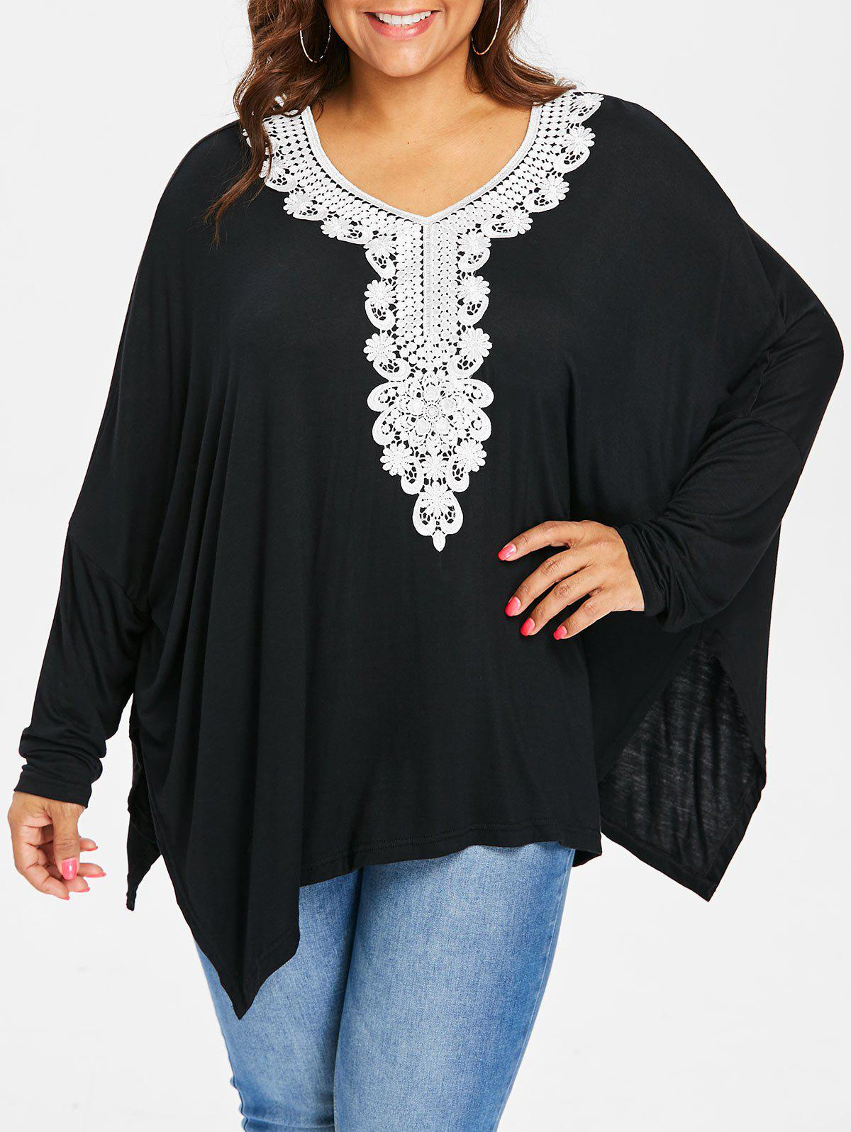 Outfit Plus Size Applique V Neck Top