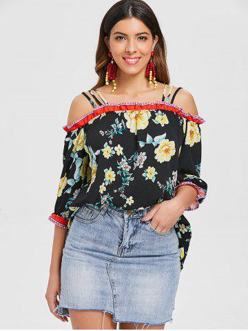 Open Shoulder Printed Strappy Top