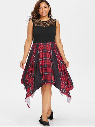 Plus Size Plaid Dresses Long Sleeve Tunic And Christmas Cheap