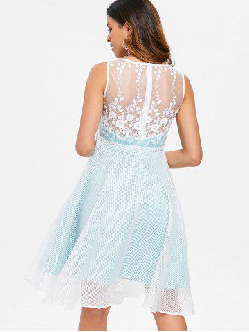 Lace Trim Fit and Flare Dress