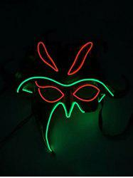 Masque d'Halloween Lumineux Style Cosplay - Multi