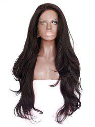 Long Side Bang Slightly Curly Synthetic Lace Front Wig -