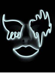 Masque d'Halloween Lumineux Style Cosplay pour Fête -