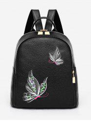 Casual Top Handle PU Leather Backpack -
