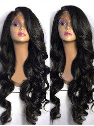 Long Side Bang Body Wave Synthetic Lace Front Wig -