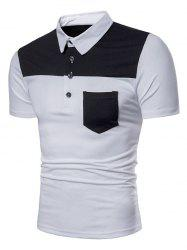 Polo Shirt Patch Poche en Deux Couleurs -