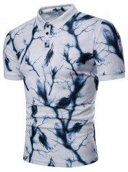 Lightning Feather Print Breathable Polo Shirt -