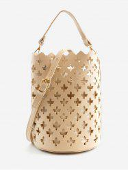 Hollow Out Scallop Chic Convertible Crossbody Bag -
