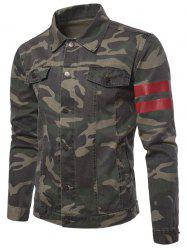 Camouflage Stripe Button Up Jacket -