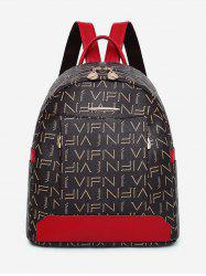 Contrasting Color Print Multi Functions Backpack -