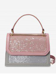 Top Handle Sequins Shoulder Bag -
