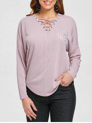 Criss Cross Long Sleeve Tee -