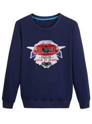 Letter Stamp Print Casual Sweatshirt -