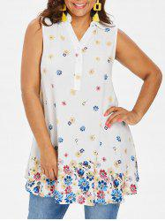 Rosegal Plus Size Print Swing Tank Top -