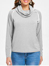 Long Sleeve Cowl Neck T-shirt -