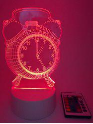 Colors Changing Clock LED Night Light with Controller -
