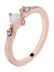 Artificial Gemstone Skinny Ring -