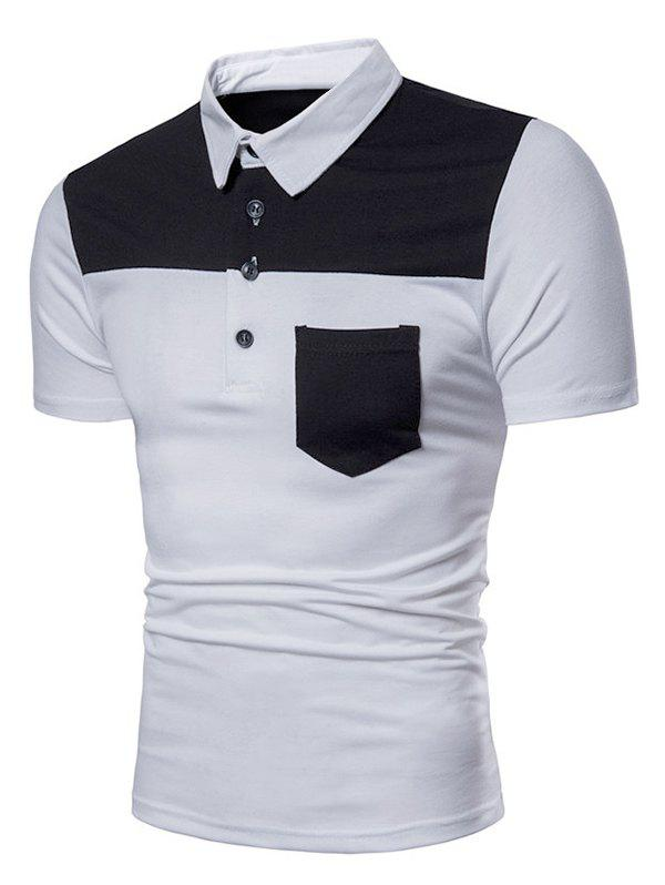 Polo Shirt Patch Poche en Deux Couleurs