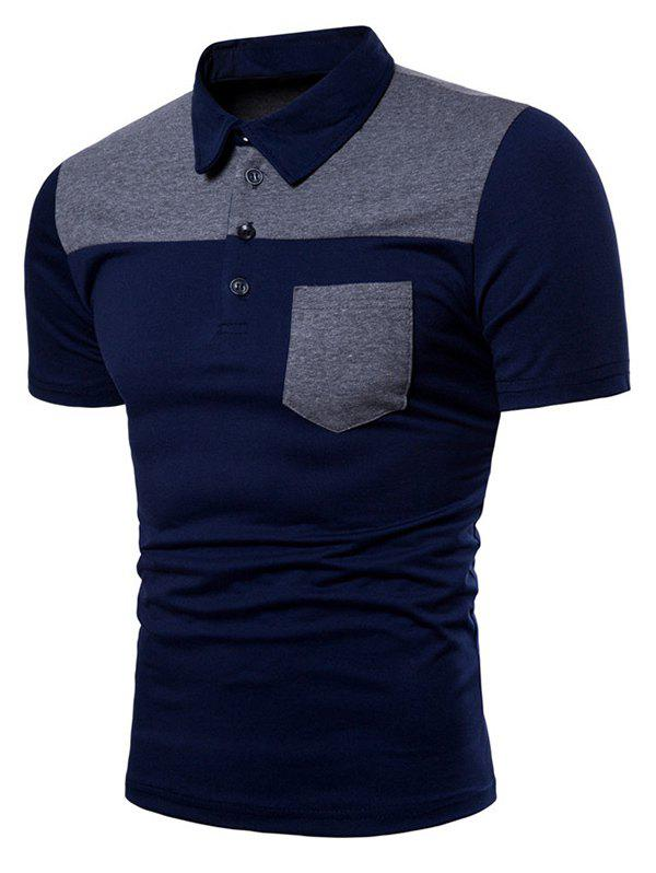 Shop Two Tone Top Pocket Patch Polo Shirt