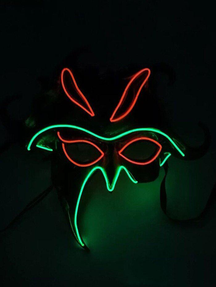 Masque d'Halloween Lumineux Style Cosplay Multi