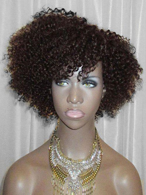 Discount Side Bang Short Fluffy Curly Lace Front Synthetic Wig