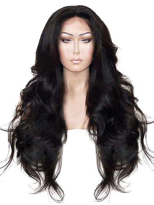 Trendy Long Free Part Wavy Lace Front Synthetic Wig