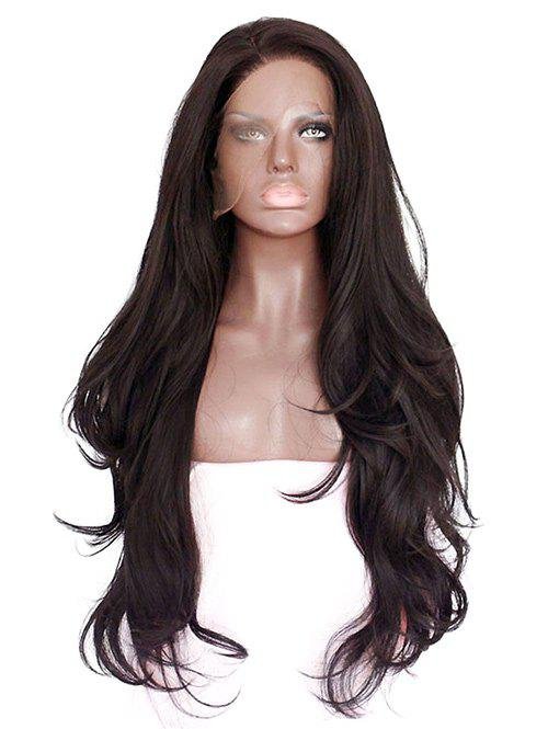 Affordable Long Side Bang Slightly Curly Synthetic Lace Front Wig