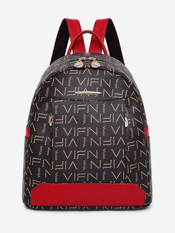 Hot Contrasting Color Print Multi Functions Backpack
