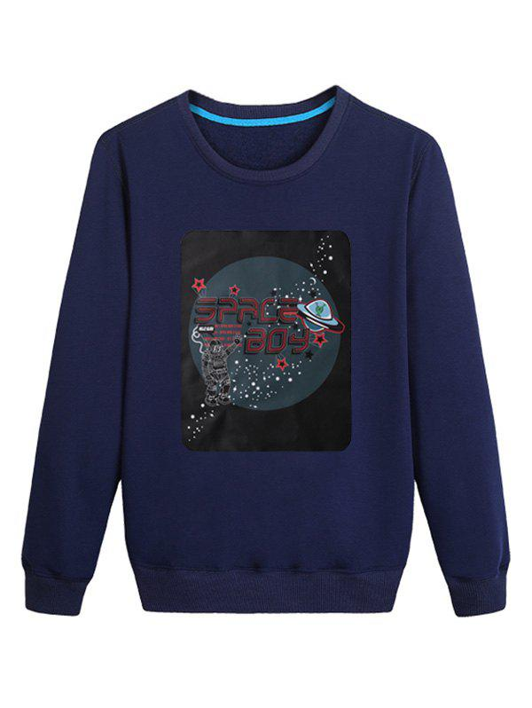 Fashion Planet Print Pullover Sweatshirt
