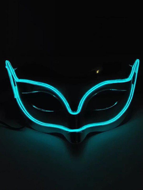 Shop Fox Shape EL Glowing Mask Halloween Cosplay